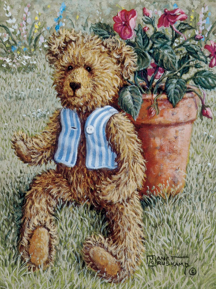 Canvas Painting Teddy Bears