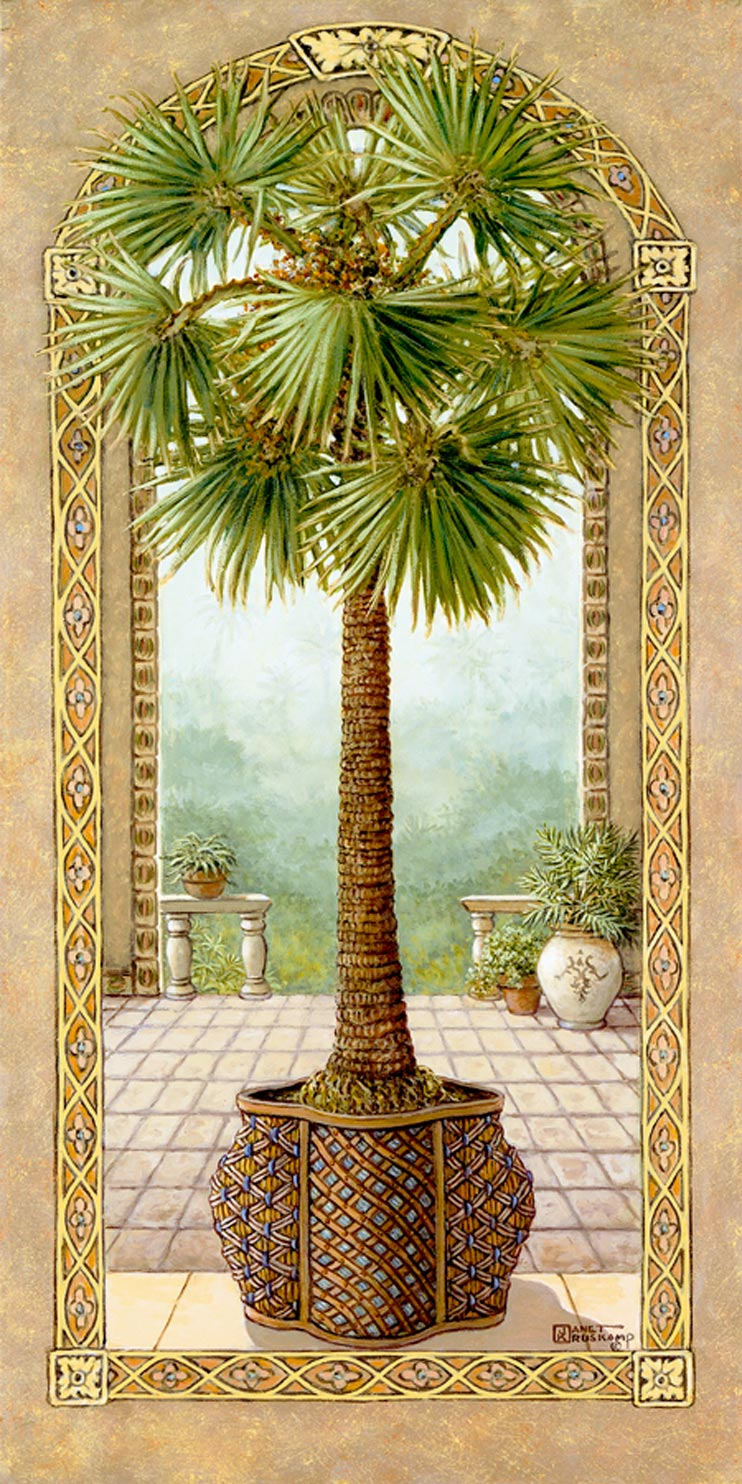 Palm tree oil paintings images for Painting palm trees