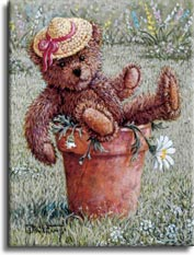 Bear with a Hat by artist Janet Kruskamp