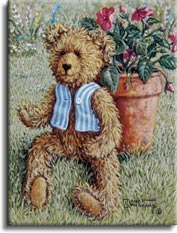 Bear with a Vest, a painting by artist Janet Kruskamp