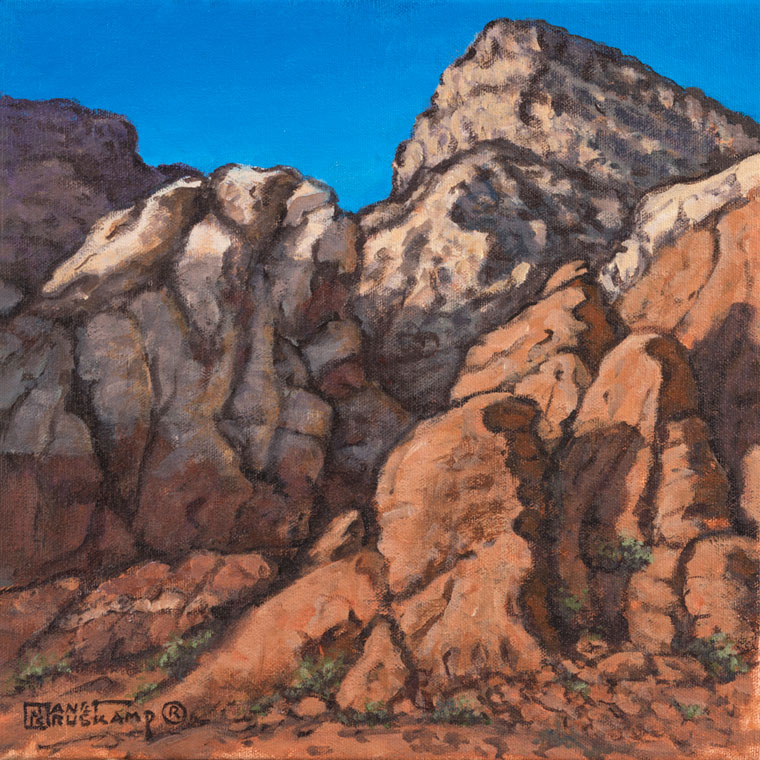 Red Rock Canyon 4 A Landscape Painting By World Famous Artist Janet Kruskamp